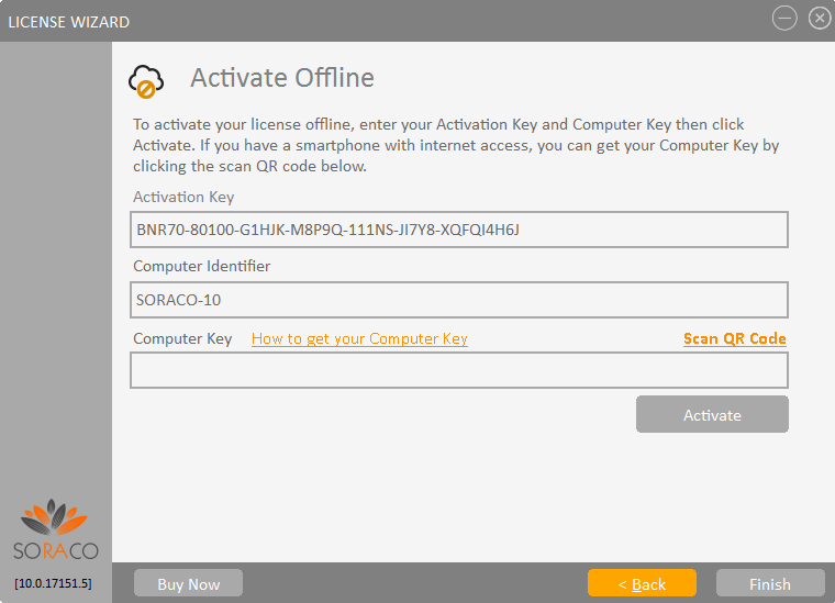 QLM License Wizard Offline Activation