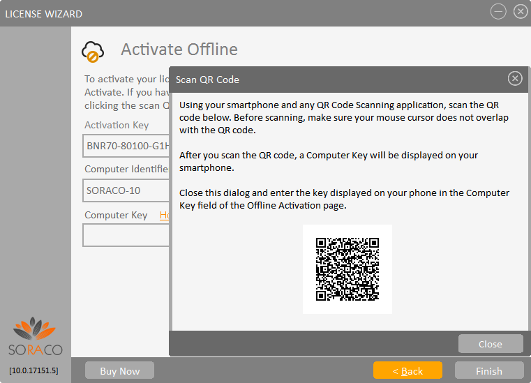 QLM License Wizard Offline Activation with QR Code
