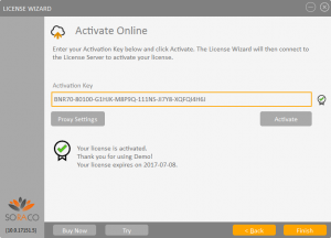 QLM License Wizard Online Activation