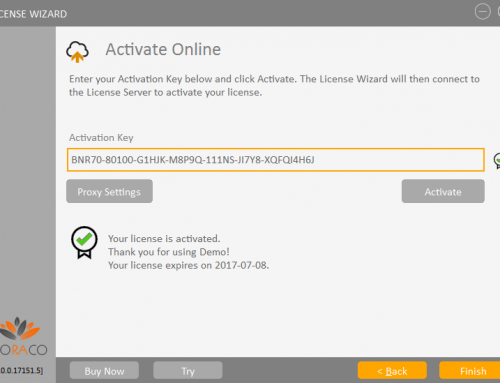 QLM License Wizard – Online Activation