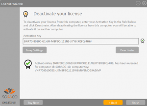 QLM License Wizard DeActivation